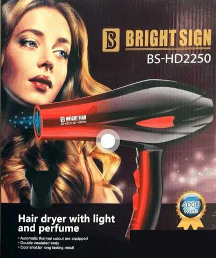 Bright Sign Ionic Hair Dryer
