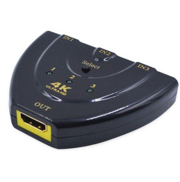 3 in 1 HDMI Input 4K x 2K HDTV Pigtail Switch Adapter HDMI Splitter
