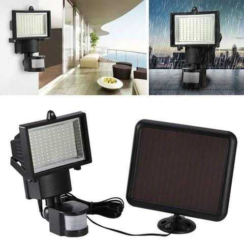 60 LED Solar Powered Lamp With Infrared Motion Sensor