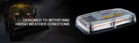 High Intensity COB LED Strobe Emergency Hazard Warning Roof Top Light.