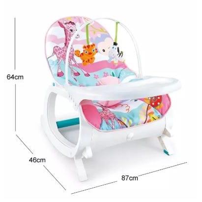 2 in 1 Newborn to Toddler Portable Rocker