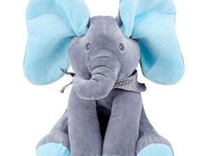 Peek – A – Boo Musical Elephant Blue