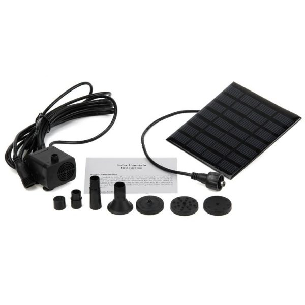 Solar Panel Powered Water Feature Pump